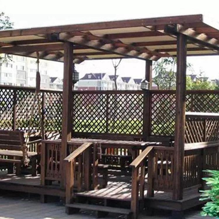 防腐木木廊架设计 木廊架施工 户外木廊架制作 木廊架批发公司