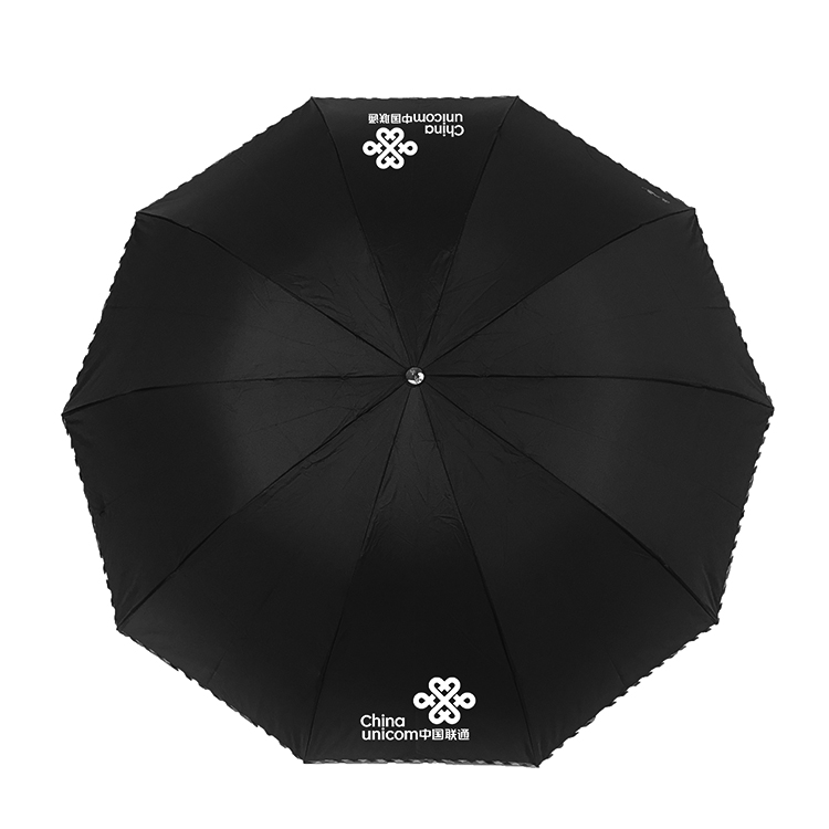 高密度拒水碰击布三折晴雨伞