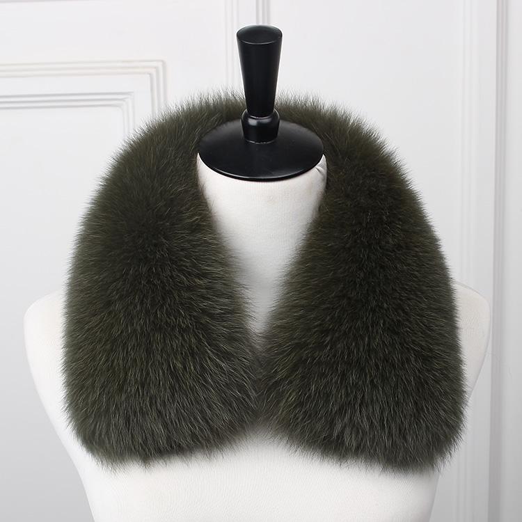 黑色男女士狐狸整皮毛领子真毛假领子大方领圆领丝带领皮草毛领子
