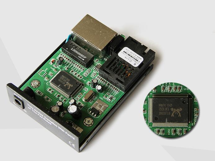 百兆1光2电单模单纤光纤收发器 光纤收发器