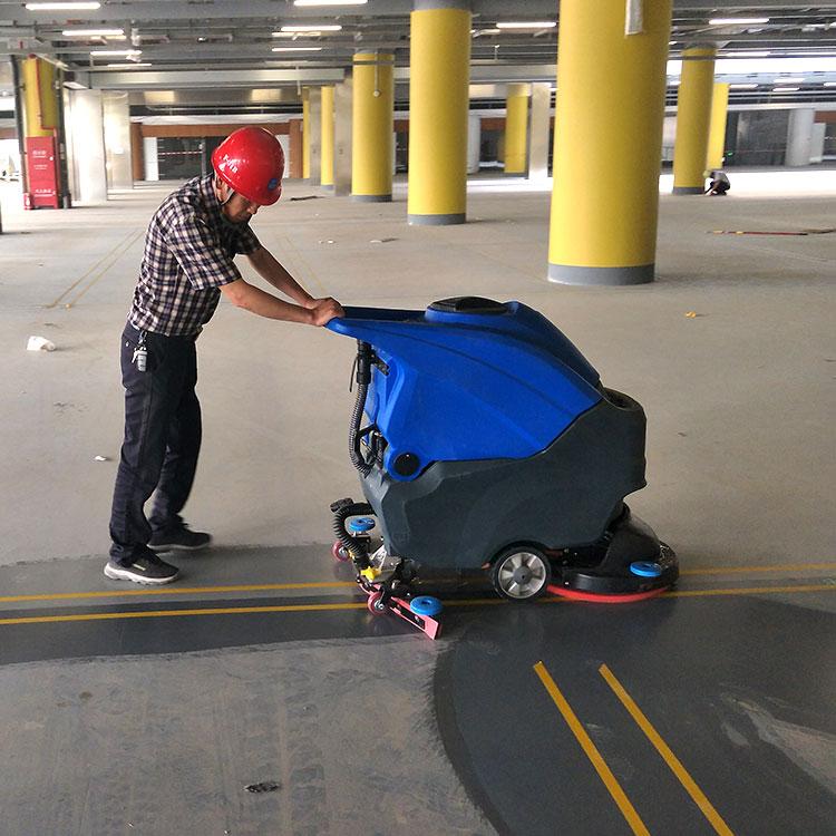 宏瑞达手推式洗地机工厂车间工业商用拖地机电动洗地拖干一体机