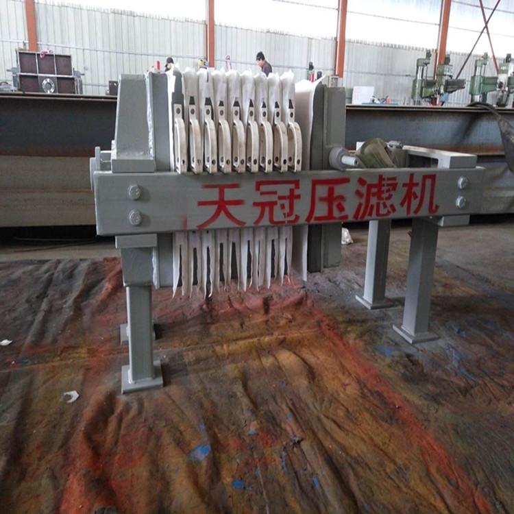 天冠500型手动千斤顶压滤机 快开型铸铁压滤机暗流出液