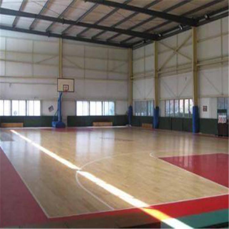 篮球场运动木地板 体育馆专用运动木地板 运动木地板报价