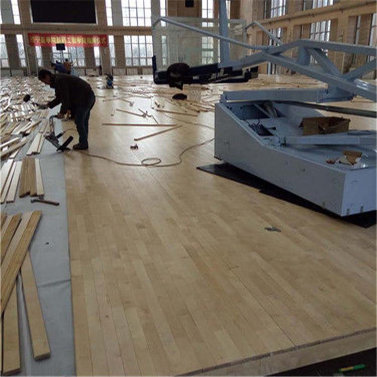 体育运动馆木地板 体育木地板安装 运动木地板生产厂家