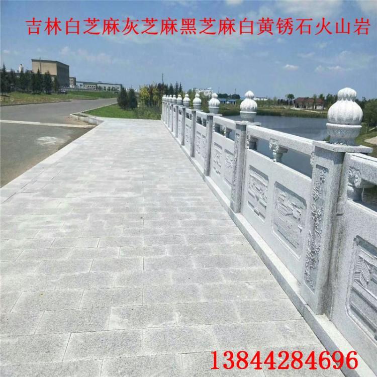 吉林栏杆栏板河道护栏长春护城河栏杆石材长廊